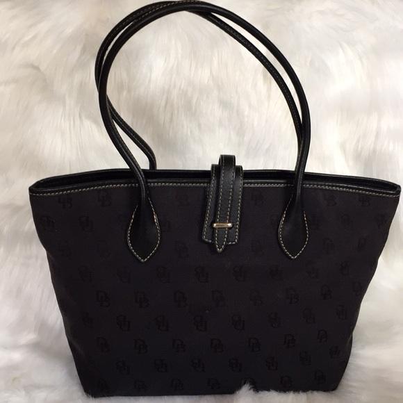 Dooney & Bourke Handbags - Dooney and Bourke Black Monogram Tote Bag